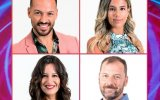 "André Abrantes, Zena, Pedro, Sofia e Joana do ""Big Brother"""