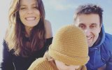 Andreia Rodrigues e Daniel Oliveira com a filha Alice