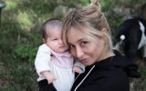 Carina Caldeira e a filha Constança