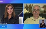 """O """"Telejornal"""" ficou marcado por um momento de tensão quando a pivô Cristina Esteves tentou entrevistar o general Garcia dos Santos"""