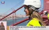 Diana Chaves subiu ao topo da Ponte 25 de Abril