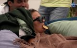 """A concorrente do """"Big Brother"""" Ana Soares dorme com uma bolacha na boca"""