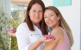 Sofia Arruda e mãe