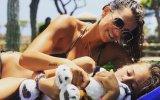 Cláudia Vieira com a filha Maria