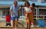 Luís Marques Mendes com a mulher e a neta