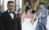João Fernandes e os noivos Ana Raquel e Paulo