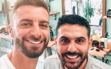 Luís e Lucas na Barbearia Rocha