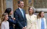 Sofia de Espanha com a família