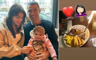 Georgina Rodríguez, Cristiano Ronaldo e Valentina