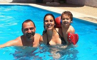 Catarina Garcia com José e o filho Gustavo