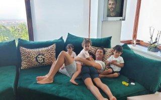 Cristiano Ronaldo e os filhos