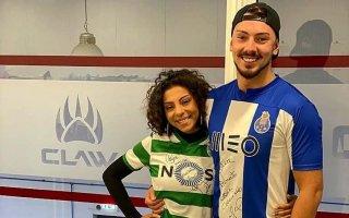 Renato Ribeiro e Jéssica Fernandes de costas voltadas
