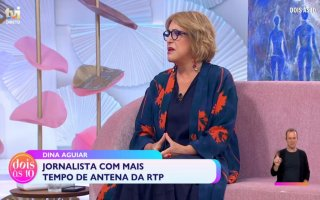 Dina Aguiar, jornalista, carreira, RTP, Dois às 10, TVI, reforma, Cláudio Ramos