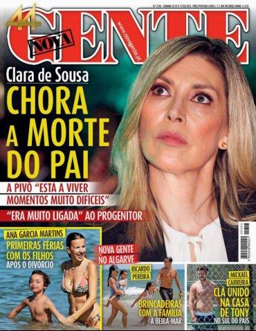 Clara de Sousa está de luto pela morte do pai