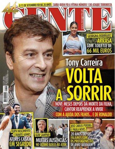 Tony Carreira volta a sorrir nove meses depois da morte da filha