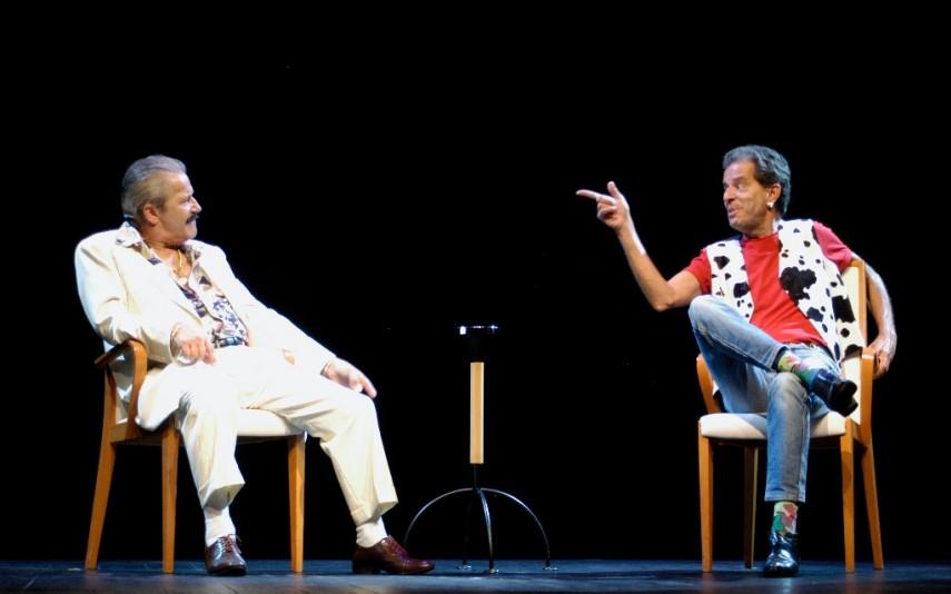 Com José Pedro Gomes na peça A Treta Continua