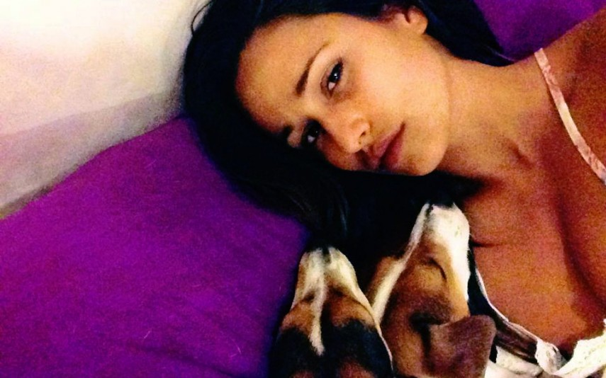 Rita Pereira foi ao veterinário depois de uma das suas cadelas ter sofrido um acidente
