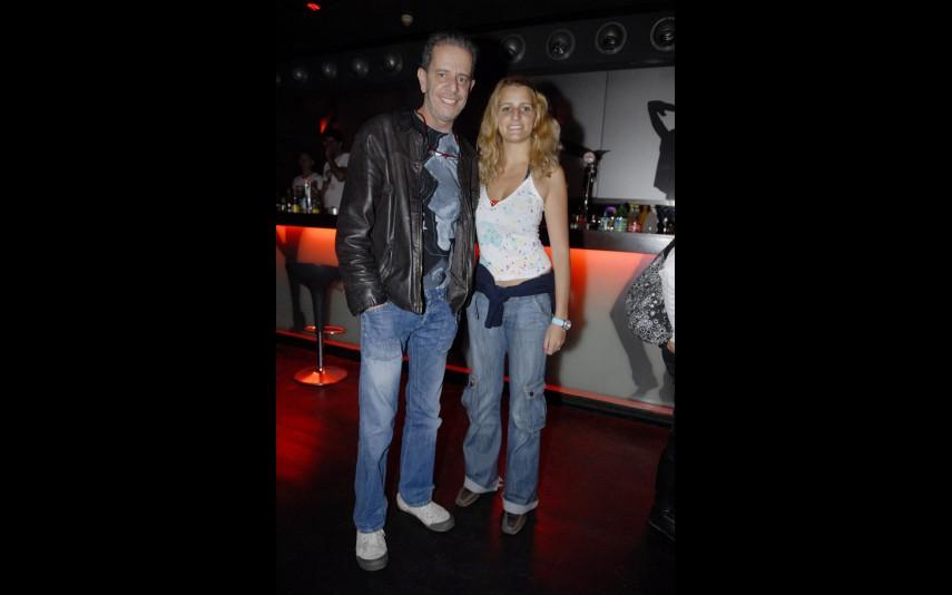 O ator com a filha, Catarina