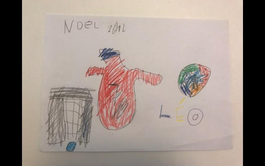 Desenhada em 2012, quando Léo ainda não sabia escrever