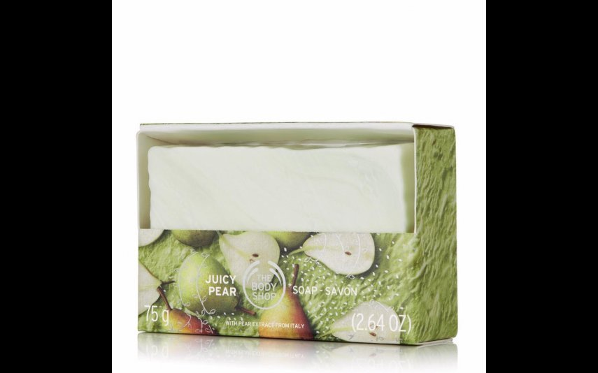 10- Sabonete Jucy Pear The Body Shop- 3 euros