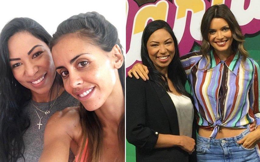 Klecia Carvalho com Carolina Patrocínio e Maria Cerqueira Gomes