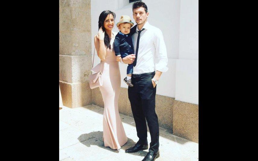 Vera com o marido e o filho
