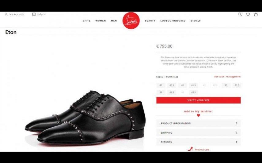 Sapatos que Cristina ofereceu a Goucha - Christian Louboutin, 795 €