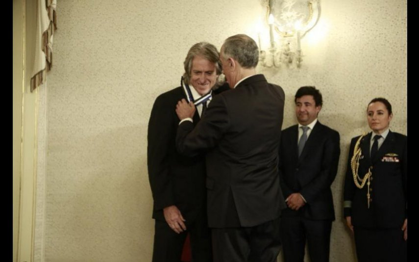 Jorge Jesus foi condecorado por Marcelo Rebelo de Sousa