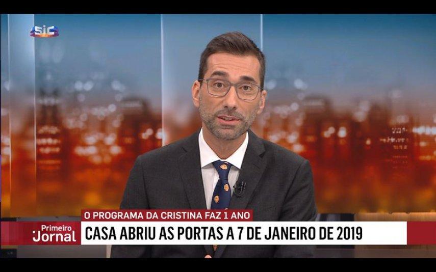 Bento Rodrigues com a gravata oferecida por Cristina