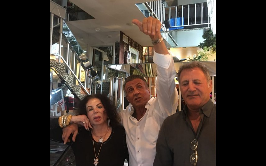 Jackie e Sylvester Stallone