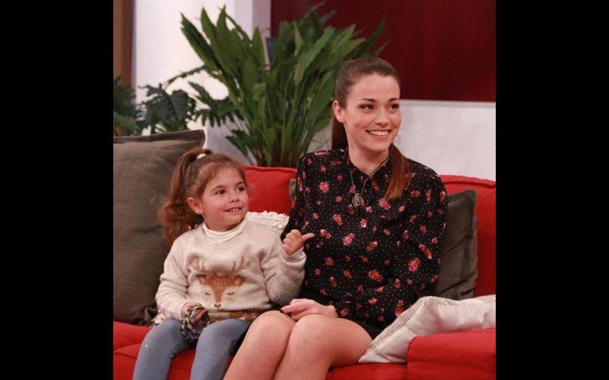 Laura Galvão com a filha Índia