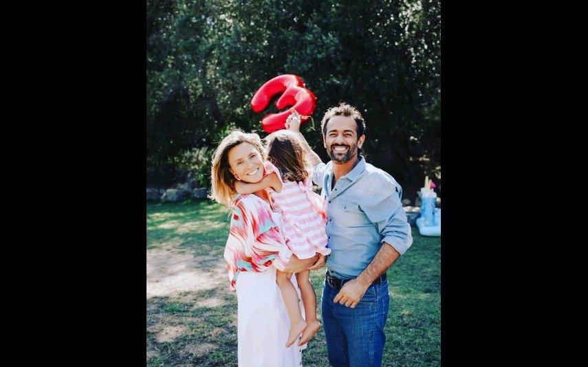 Gonçalo Diniz com Sofia Cerveira e a filha Vitória