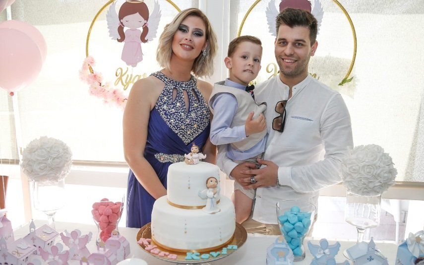 Bernardina Brito e Tiago com o filho Kévim