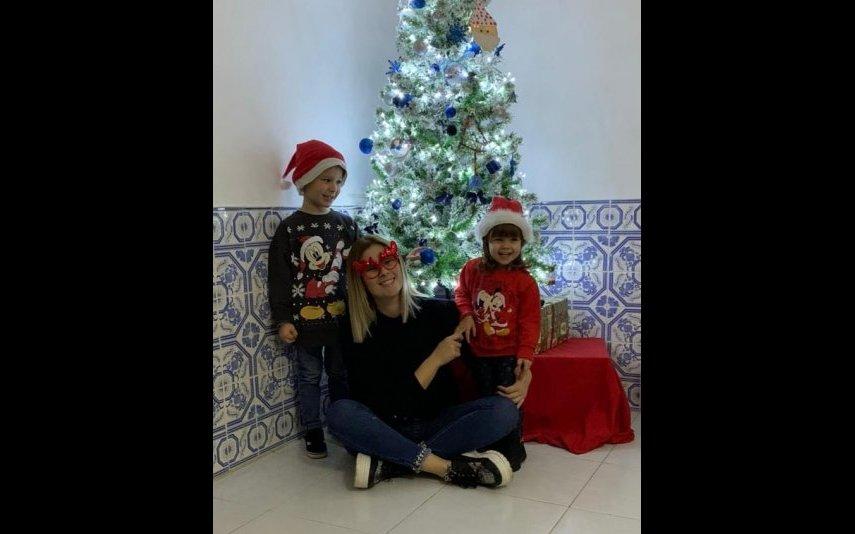 Bernardina com os filhos, Kévim e Kyara