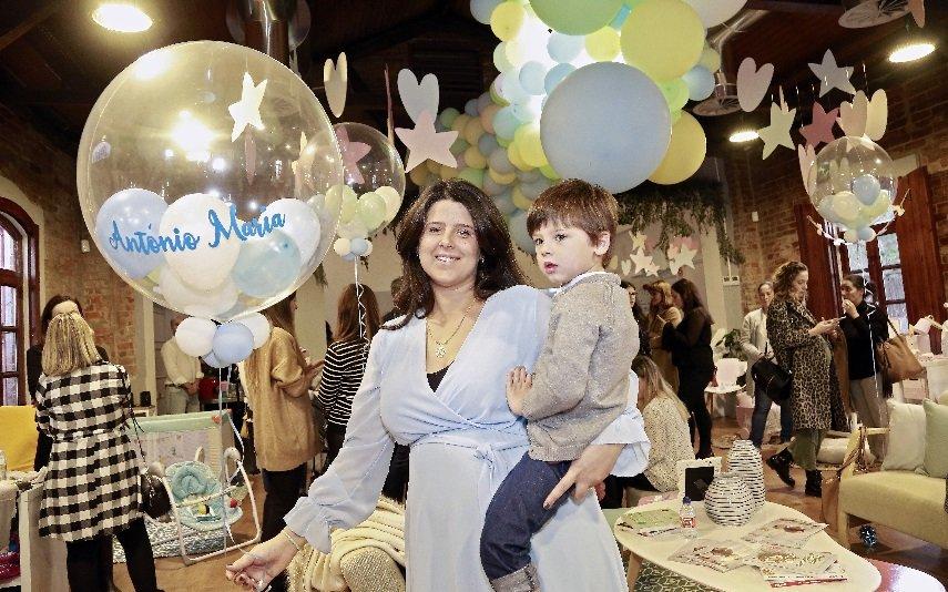 Maria Pitta Paixão com o filho Duarte
