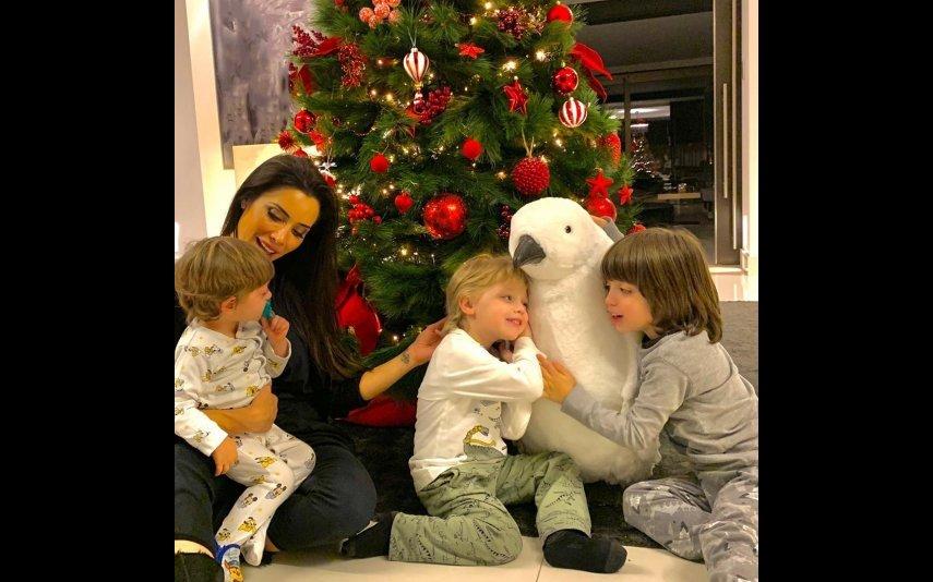 Pilar Rubio com os filhos