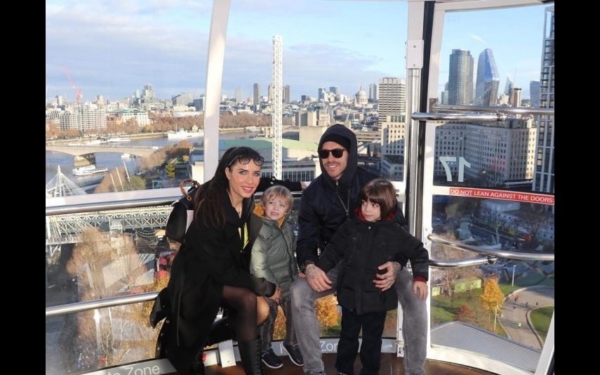 Sergio Ramos e Pilar Rubio com os filhos mais velhos