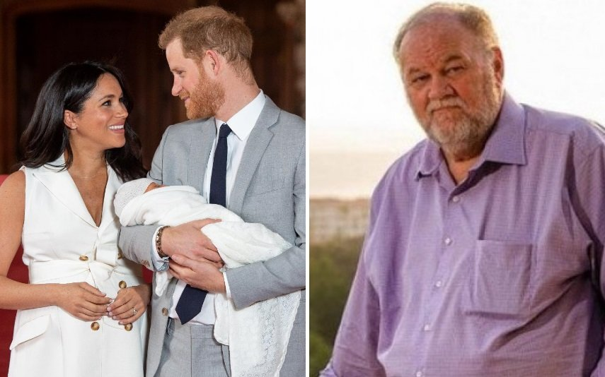Meghan, Harry e Archie e Thomas Markle