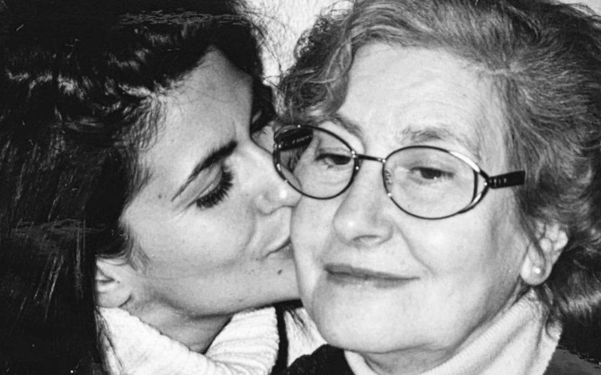 Liliana Campos com a mãe