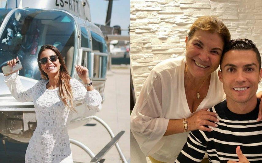 Carolina Patrocínio, Dolores Aveiro e Cristiano Ronaldo
