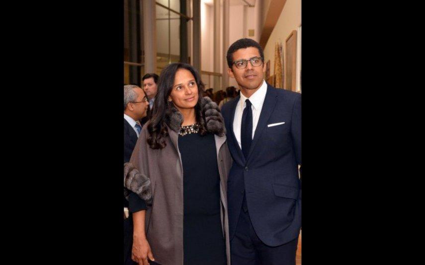A protagonista da investigação Luanda Leaks com o marido