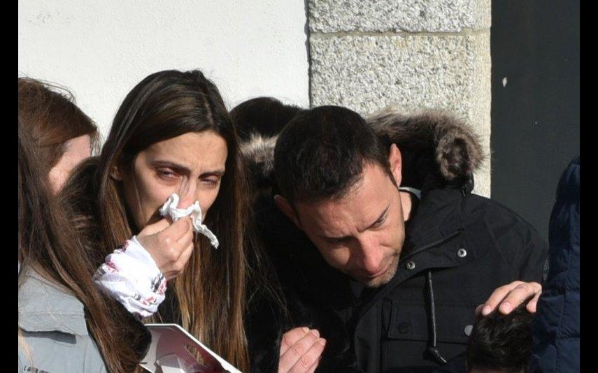 Sofia, a viúva do piloto, e Joaquim Rodrigues, cunhado do piloto