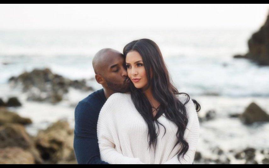 Kobe com a mulher