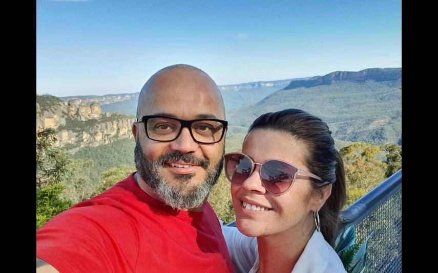 Fernando Rocha com a mulher, Sónia