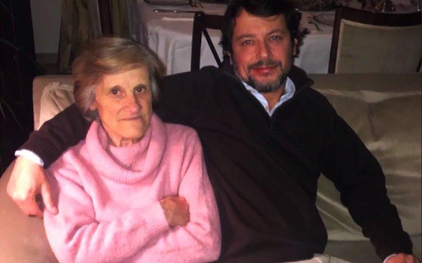 António Pedro Cerdeira com a mãe