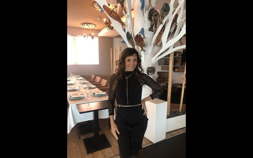 Mylla no restaurante Zambeze Lisboa