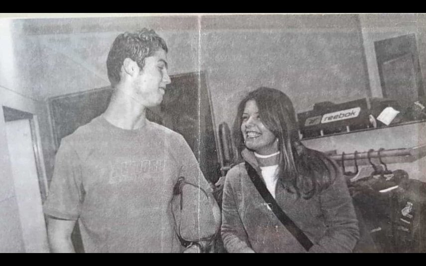 Cristiano Ronaldo com Joana Castro