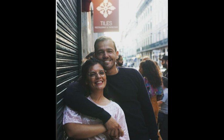 Joana Castro com Pedro Teixeira