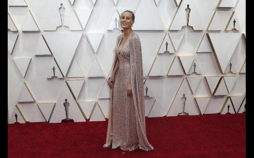 The Celine by Hedi Slimane foi o vestido escolhido por Brie Larson. Gosto muito - 5 estrelas