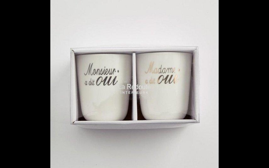 Chávena de casamento em porcelana (lote de 2), 16,99 euros, La Redoute